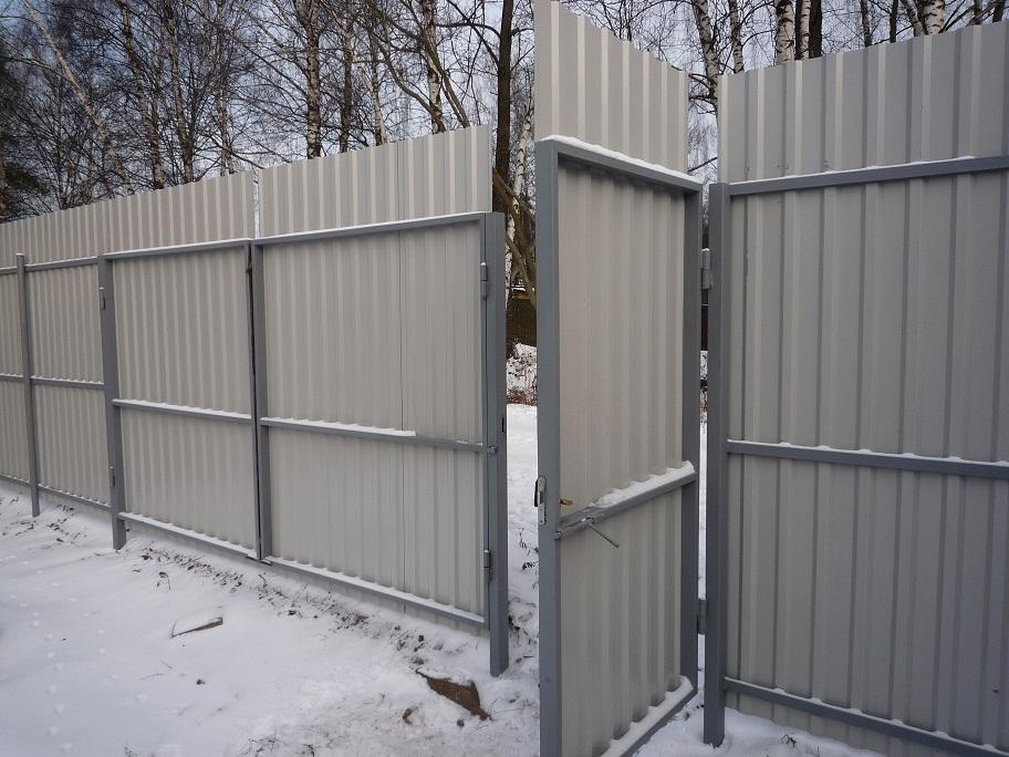 забор с воротами и калиткой стоимость